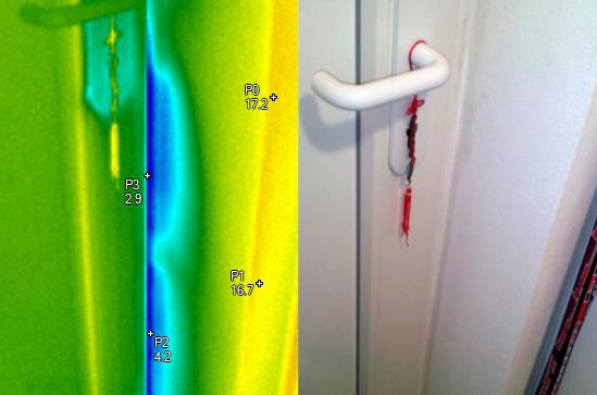 Infiltrace chladného vzduchu do interiéru - termocorp.cz, termovizní měření na Šumpersku, termokamera Šumperk