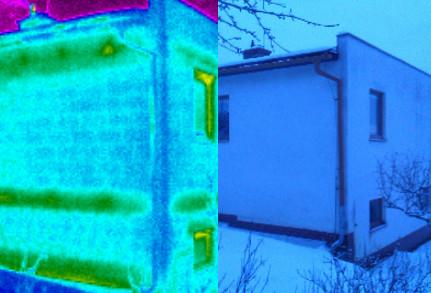 roh domu, termovizní měření na Šumpersku